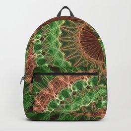 Green and orange mandala Backpack