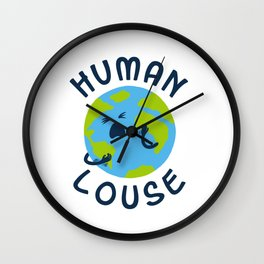 Human Louse Wall Clock