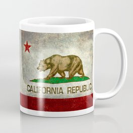 California flag - Retro Style Coffee Mug