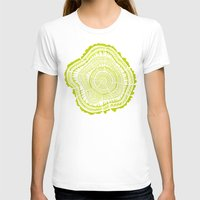 tree rings T-shirts featuring Lime Tree Rings by Cat Coquillette
