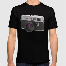 Leica M9 Camera polygon art MEDIUM Black Mens Fitted Tee