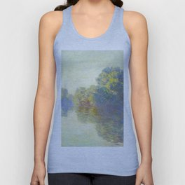 The Seine at Giverny Claude Monet 1897 Impressionist Oil Painting Nature Trees Lake Landscape Unisex Tank Top