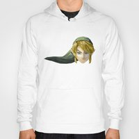video games Hoodies featuring Triangles Video Games Heroes - Link by s2lart