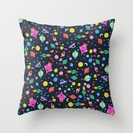 I Need Some Space Dark Throw Pillow