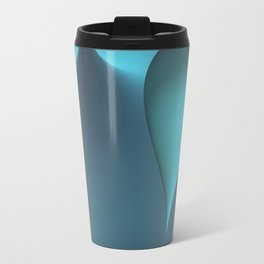 turquoise geometry -2- Travel Mug
