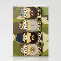 minions Stationery Cards featuring Minions Mashup Duck Dinasty by Akyanyme