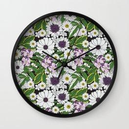 Flowers in detail pattern Wall Clock