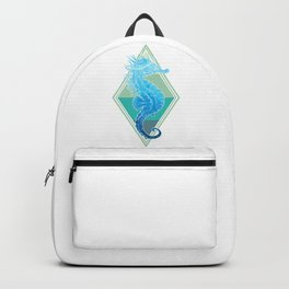 Blue Seahorse Backpack