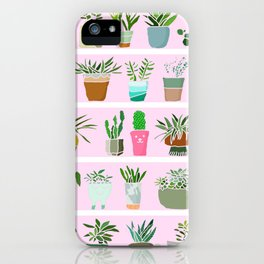 Shelfie cactus print iPhone Case