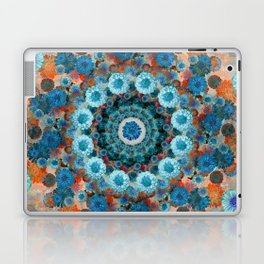 Happy orange background Laptop & iPad Skin