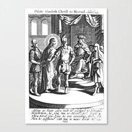 Jesus Before Pilate Canvas Print