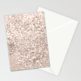 Blush Glitter Dream #4 #shiny #decor #art #society6 Stationery Cards