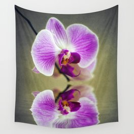 Orchid Reflections Wall Tapestry