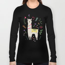 Festive Llama Long Sleeve T-shirt
