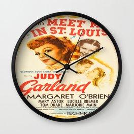 Vintage poster - Meet Me in St. Louis Wall Clock