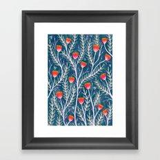Tiny Moth Garden Pattern Framed Art Print