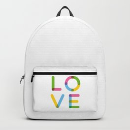 LOVE – Multicolor – Square Backpack