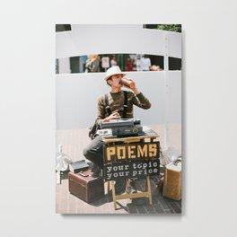 The Ballard Poet Metal Print