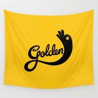 golden Wall Tapestries featuring Golden! by Jake Longoria