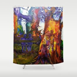 Peace Among Giants Shower Curtain