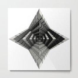 Time vs. Monolith Metal Print
