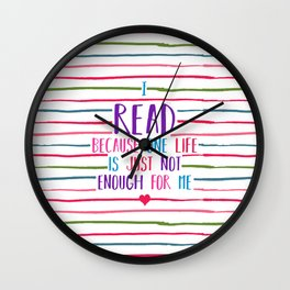 Read Stripes Wall Clock