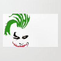 the joker Area & Throw Rugs featuring Joker by The Artist