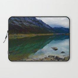 Reflections in Medicine Lake in Jasper National Park, Canada Laptop Sleeve