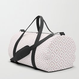 Persimmon Hitomezashi Sashiko - Red on White Duffle Bag