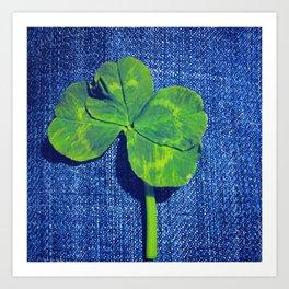 Lucky four leaf clover Art Print