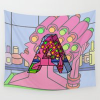 letter Wall Tapestries featuring Letter A by Stefan Stettner