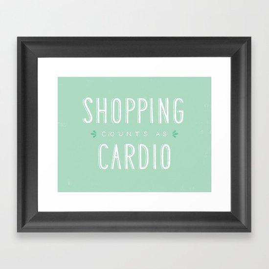 Shopping Counts As Cardio Framed Art Print