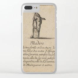 Game of Geography - Madeira (Stefano della Bella, 1644) Clear iPhone Case