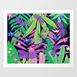 Dragonfly Jungle Art Print