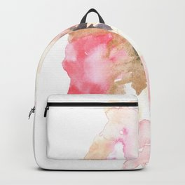 Watercolor Pink Black Gold Flow | [dec-connect] 43. binding Backpack