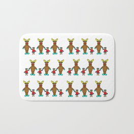 Cute christmas buddies pattern Bath Mat