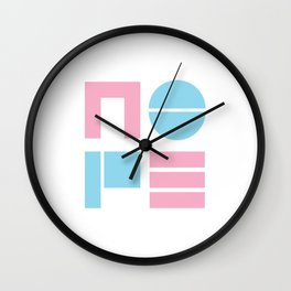 80's Nope Wall Clock