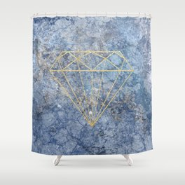 GoldDiamond Marble Shower Curtain
