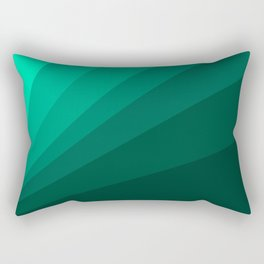 Sea green folding hand fan, fresh and simple summer tropical mood design Rectangular Pillow