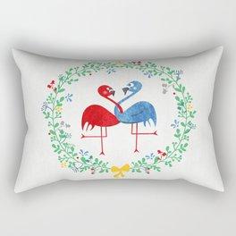 FlamingosTangled in Love Rectangular Pillow