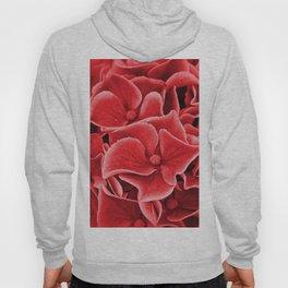 Red abstract hydrangeas blossom flower #society6 Hoody