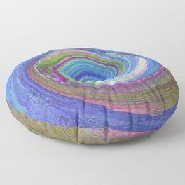 256 - Spiral abstract design Floor Pillow