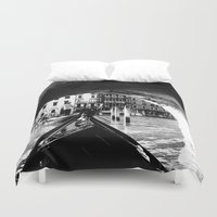 venice Duvet Covers featuring venice by gzm_guvenc