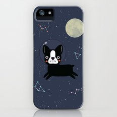 Boston Terrier In Space iPhone SE Slim Case