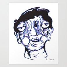 Please Place 3-D Glasses over your vision balls  Art Print