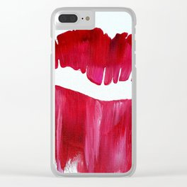 Hot Lips Clear iPhone Case