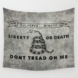 Culpeper Minutemen flag, Worn distressed version Wall Tapestry