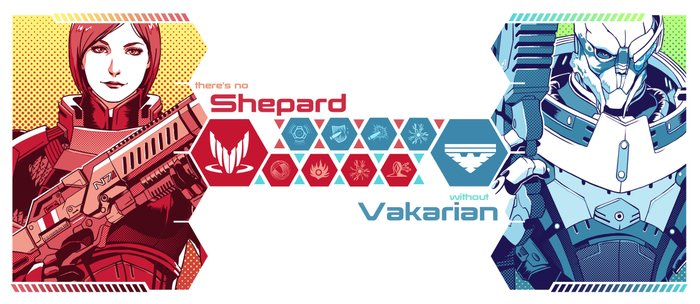 Mass Effect : Shep & Garrus Coffee Mug