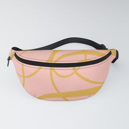 Colourful & Elegant Curls of Letter A  Fanny Pack