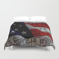 american Duvet Covers featuring American by Tracy66